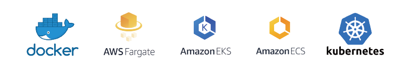 Our Container Technology Stack-docker/ AWS Fargate/ Amazon EKS/ Amazon ECS/ kubernetes